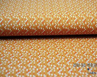 "Maxi coupon oeko-tex - SOFT CACTUS - ochre mustard and confetti dots ""rhythm in the rain"""