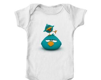Sleepy Bird and Baby Bird Infant Bodysuit