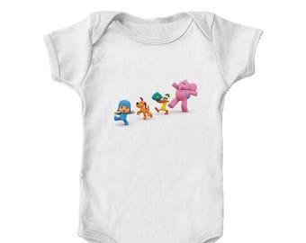 Pocoyo, Loula, Pato, Sleepy Bird and Elly Marching Official Pocoyo Infant Bodysuit