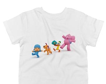 Pocoyo, Loula, Pato, Sleepy Bird and Elly Marching Toddler T-Shirt