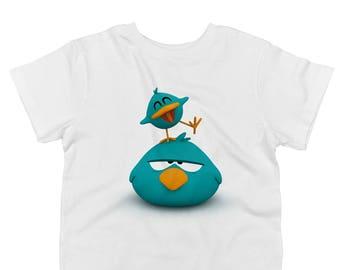 Sleepy Bird and Baby Bird Toddler 100% Cotton T-shirt