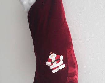 """Christmas red and white patterned boot """"Santa Claus costume"""" / Christmas/gift Christmas decoration"""