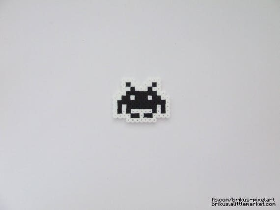 Items Similar To Enemy Space Invaders Pixel Art Hama Beads On Etsy