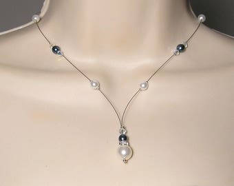Bridal Swarovski and Pearl Collection Glamour necklace 2 - MARIAGE CÉRÉMONIE Kelly ♥ ♥