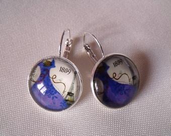 LIQUIDATION cabochon earrings 20mm retro dress