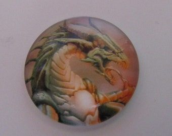 dragon cabochon, glass cabochon, cabochon 25mm