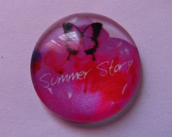 butterfly cabochon, glass cabochon, 20mm, various models