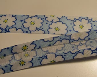 floral pattern, blue, white, yellow, 20mm wide, couture, creative hobbies
