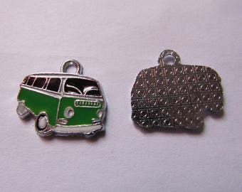 black and green 19mmx20mm combi truck pendant