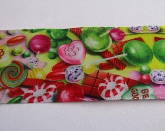 satin ribbon, ribbon 38mm wide, candy ribbon