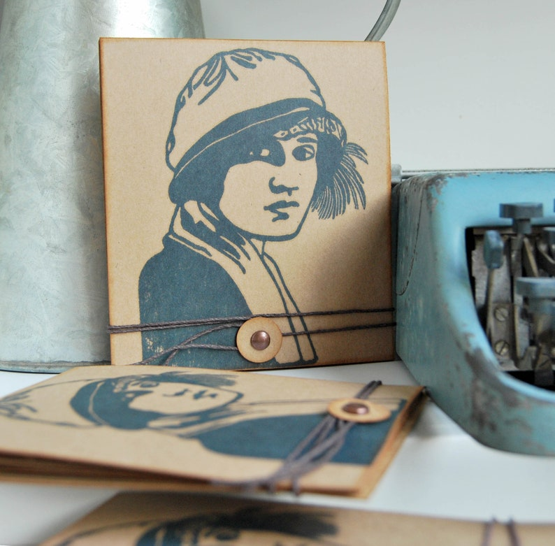 Tina Modotti photo album handmade photo album with recycled image 0