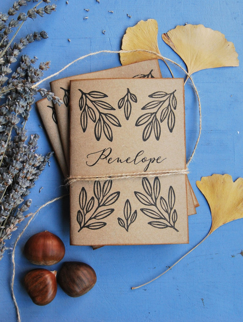 Handmade customized notebook with recycled paper gift for image 0