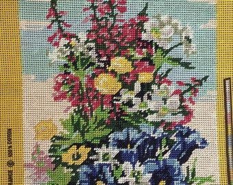 Beaded embroidered canvas