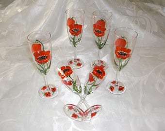 CHAMPAGNE POPPIES FLUTES
