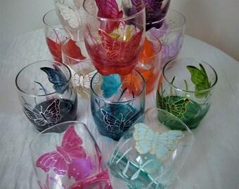 BUTTERFLY APERITIF GLASSES