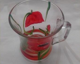POPPY GLASS CUP