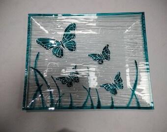 FLAT GLASS BUTTERFLIES