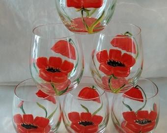 POPPY APERITIF GLASSES