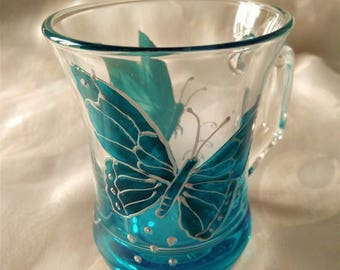 BUTTERFLY GLASS CUP