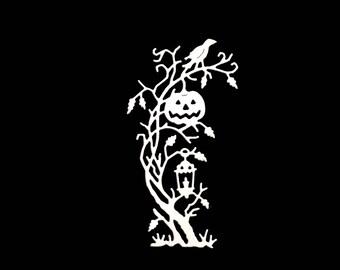 Cut pumpkin halloween Raven tree scrapbooking embellishment decoration die cut scrap album animal