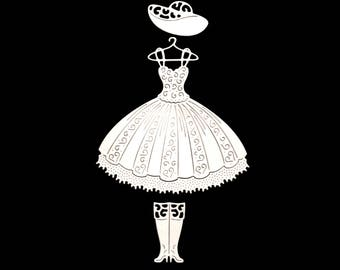 Cuts scrapbooking scrap princess dress Hat boots wedding wedding Princess die cut paper embellishment