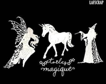 226aa80d4 Starry Unicorn fairy scrapbooking cuts Wizard magician merlin chipboard  paper decoration die cut embellishment
