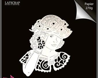 93ad5f8b6dfd 1 cut scrapbooking carattere testa donna cappello fiore guanto pizzo  vintage taglio carta decorazioni decorazione carta album