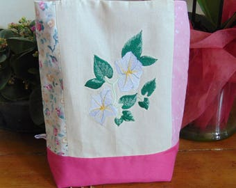 Bindweed embroidered canvas bag