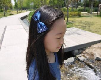 lovely Ellin spangles Hair bow Barrette Hair pin sequins