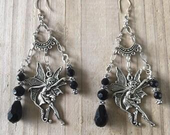 c61924d55143 Kit pour boucles d oreilles fée et ses perles de cristal noir
