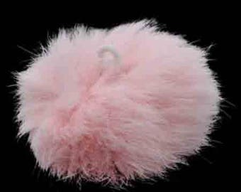 Ball of pink Teddy with loop elastic size 60mm