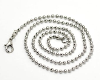 Ball necklace 46 cm, clasp balls 2.4 mm