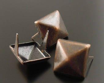 Grif color diamond nail copper for customizing clothes, bag, set of 20 Pcs