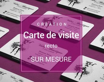 Carte De Visite Recto Creation Sur Mesure Professionnelle Design Graphique Pro Pour Artisans Auto Entrepreneurs Format PDF