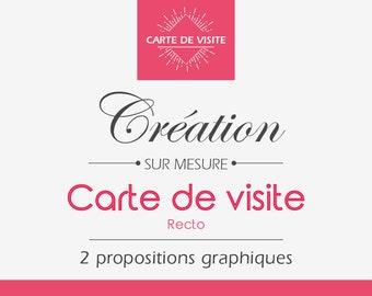 Carte De Visite Recto Cration Sur Mesure Professionnelle Design Graphique Pro Pour Artisans Auto Entrepreneurs Format PDF