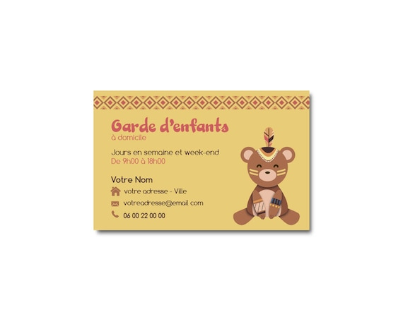 Visit Bear Indian Childrens Card Guard Babysitting