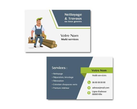Carte De Visite Multi Services Pour Professionnels