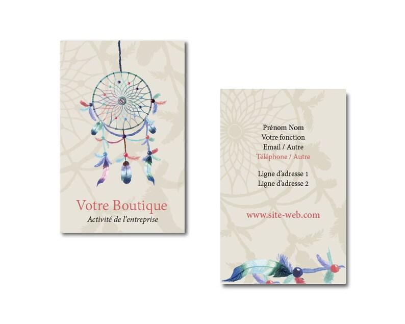 Carte De Visite Boheme Communication Visuelle Design Attrape