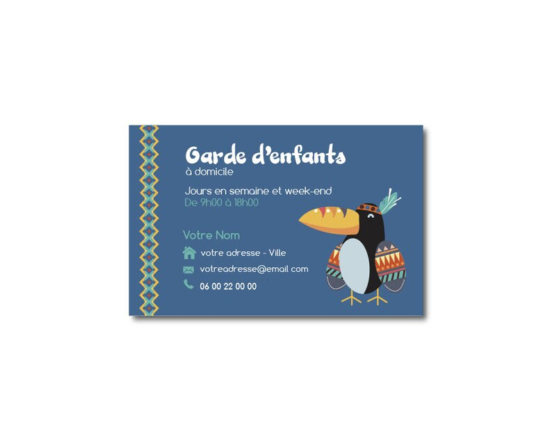 Carte De Visite Garde DEnfants Puericulture