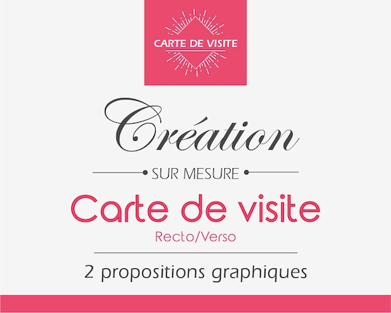 Creation Carte De Visite Recto Verso Sur Mesure Design