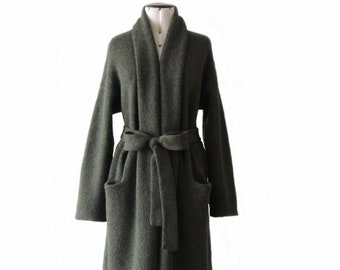 Capote coat Limited edition  93% alpaca, oversized  with belt, non hooded in felted alpaca  length 34/44/48 inch melange color