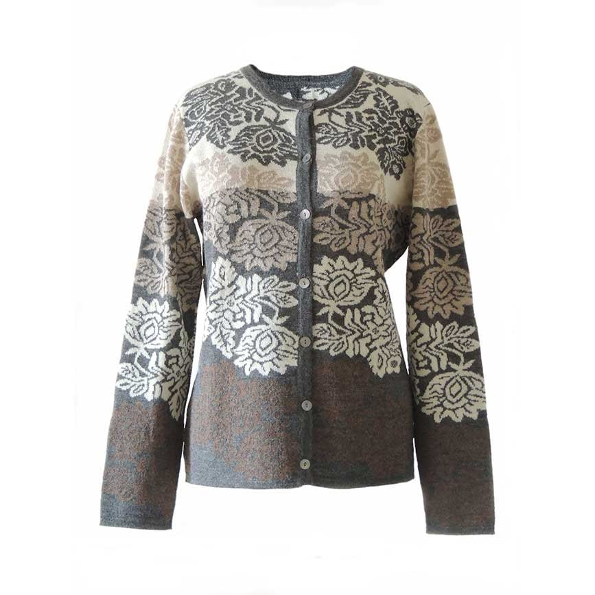 ef6e618df Cardigan Georgina jacquard knitted with flower pattern baby