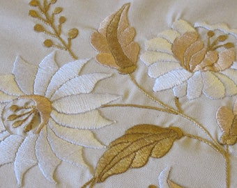 Fully handmade embroidered tablecloth