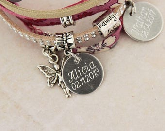 "Personalized with names ""Lil ' Pretty"" Rose bracelet"