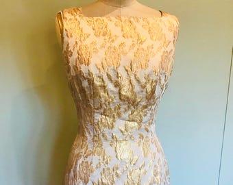 60s brocade mini dress