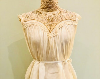 Victorian silk and beaded blouse