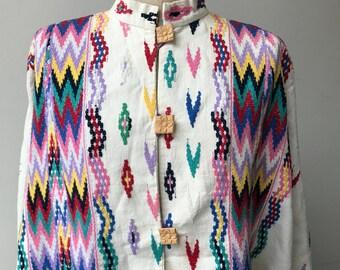 60s cotton cape from Guatemala