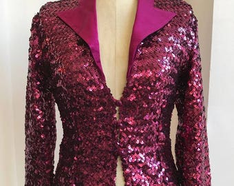 60s sequins Rock style Jacket