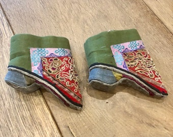 Vintage Chinese baby shoes