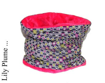 NEW purple and pink child soft neck warmer cowl